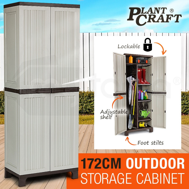 172cm Lockable Outdoor Storage Cabinet Shop Online At Mytopia