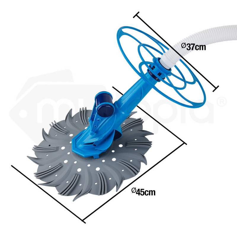 AURELAQUA Swimming Pool Cleaner Floor Climb Wall Automatic Vacuum 10M Hose Blue by Aurelaqua