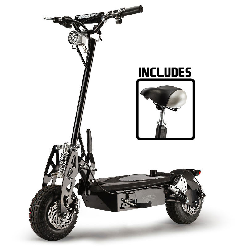 Black Off Road Turbo Electric Scooter - Stealth 1-6 by BULLET
