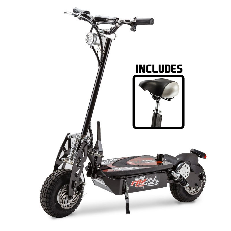 black red off road electric scooter bullet electric. Black Bedroom Furniture Sets. Home Design Ideas