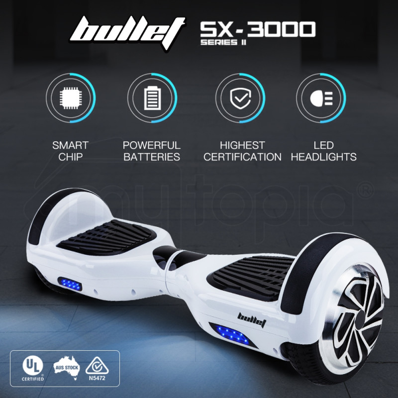 White Electric Self Balancing Scooter - SX-3000 Series ii  by BULLET
