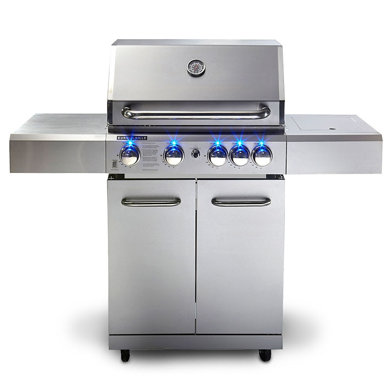 5 Burner Stainless Steel BBQ by Euro-Grille