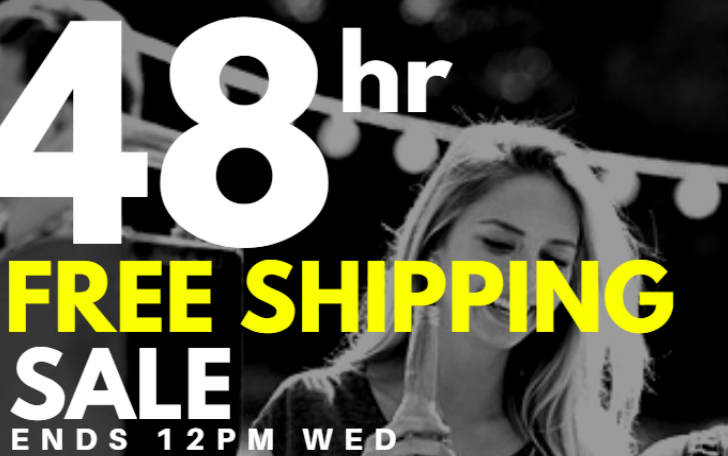 48 Hour Free Shipping Sale