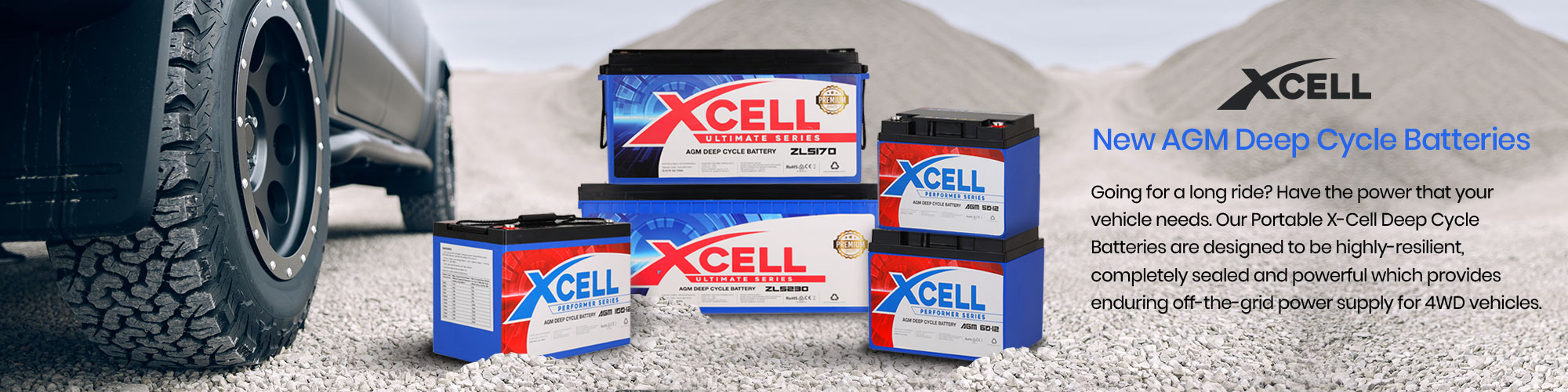 X-Cell AGM Deep Cycle Batteries