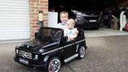 Jezza in the new fav toy his Mercedes AMG G55 Ride-On!!