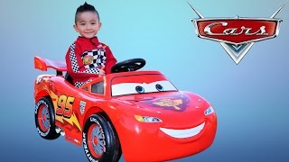Unboxing Disney Cars Lightning McQueen Battery-Powered Ride On Car 12V Test Drive  Ckn Toys